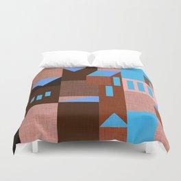 Brown Klee houses Duvet Cover