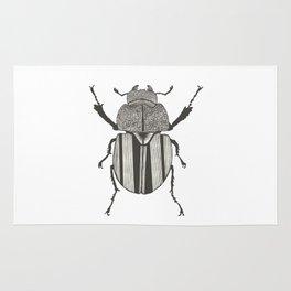 Graphic ekoxe stag beetle Rug