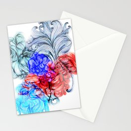 Tricolour Psychadelium Stationery Cards