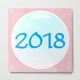 2018 Christmas And New Year Metal Print