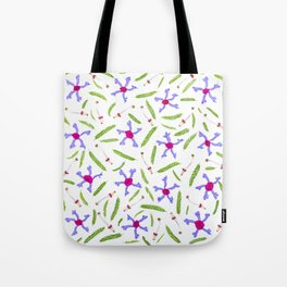 Leaves and flowers pattern (25) Tote Bag
