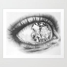 Diamond Eye Art Print