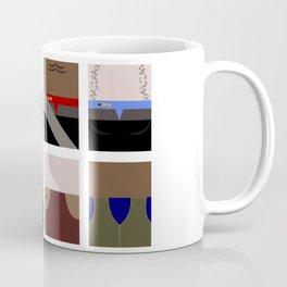 DS9  Characters - Minimalist Star Trek DS9 Deep Space Nine - Defiant - startrek - Trektangles Coffee Mug