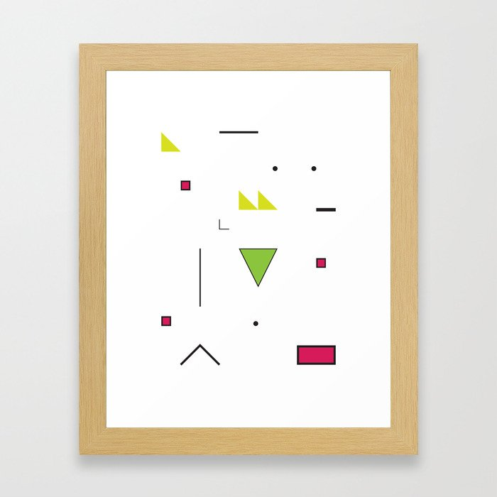 Geometric Storm: Take 4 Framed Art Print