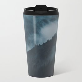Layers of Mountain Valley Forest Fog Clouds Modern Landscape Travel Mug