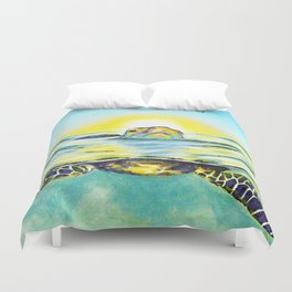 Keep Your Head Above Water. You Got This Duvet Cover