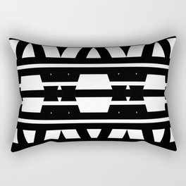 Black & White Geometric Design Rectangular Pillow