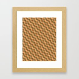 Kneading Gingerbread Cookie Houndstooth Pattern Framed Art Print