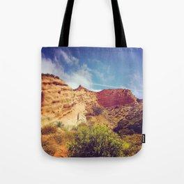 Golden Cliffs Tote Bag