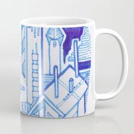 Blue Fantasy Landscape Coffee Mug