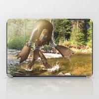 sasquatch iPad Cases featuring Robot Sasquatch by David Slebodnick