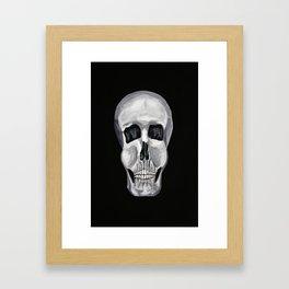 Black White & Skull Framed Art Print