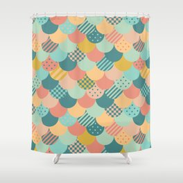Patchwork Mermaid Scales Shower Curtain