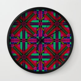 MOROCCAN ORNAMENT_in red Wall Clock