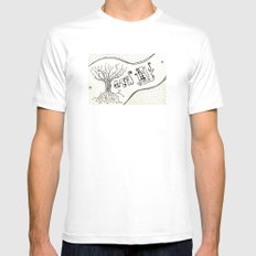 grow up MEDIUM Mens Fitted Tee White