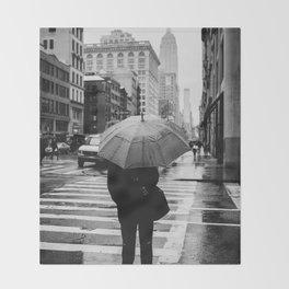 Rainy New York VIII Throw Blanket
