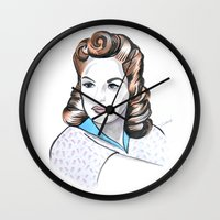 minnie Wall Clocks featuring Minnie by Christie  Elise