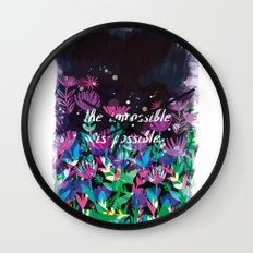 The Impossible is Possible Wall Clock