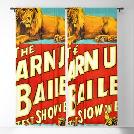 Barnum and Bailey Great Show on Earth - Lion and Tiger Vintage Circus Poster Blackout Curtain