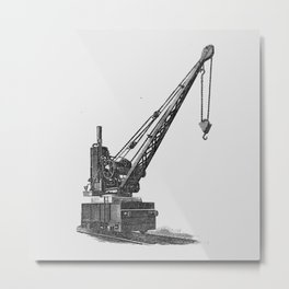 Railroad crane Metal Print