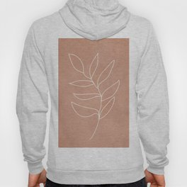 Engraved Leaf Line Hoody