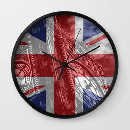 Big Ben - UK Flag Wall Clock