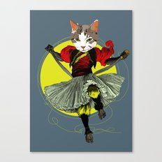 Kitty is a bad-ass Canvas Print