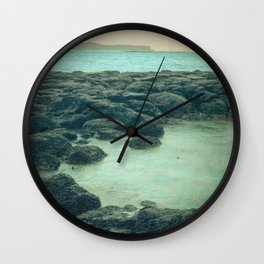 The Beach of the Rocks Wall Clock