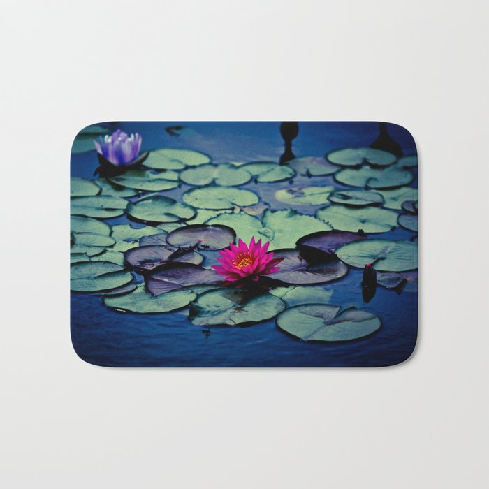 Twilight at the Lily Pond Bath Mat