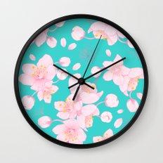 sakura blossoms Wall Clock