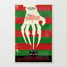 Freddy Nightmare Horror Movie Poster Canvas Print