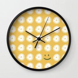 Smiley Daisy Wall Clock