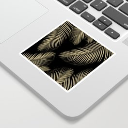 Palm Leaves - Gold Cali Vibes #4 #tropical #decor #art #society6 Sticker