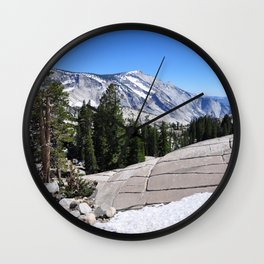 Olmsted Point, Tioga Pass, Yosemite National Park  Wall Clock