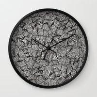 decal Wall Clocks featuring Chaos!! by Alejandro Ayala