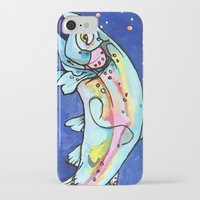 trout iPhone & iPod Cases featuring Trout Pout by waggytailspetportraits