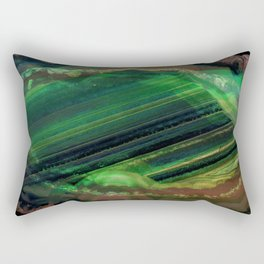 The Exotic Emerald Grotto Rectangular Pillow