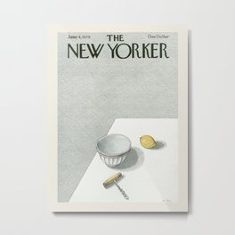 """Cover of """" The new Yorker"""" magazine. June 4 1979. Metal Print"""