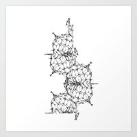 dna Art Prints featuring DNA by kartalpaf