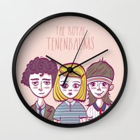 royal tenenbaums Wall Clocks featuring Tenenbaums by Pilotinta