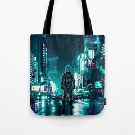 Another Rainy Night ( The Continuous Tale Of The Lost Astronauta) Tote Bag
