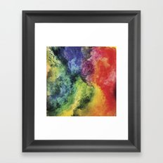 Rainbow Tie Dye Watercolor Framed Art Print