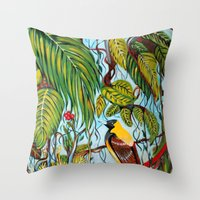 lonely Throw Pillows featuring Lonely by Felicia Cirstea