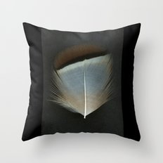French Partridge Feather Throw Pillow