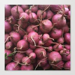 Farmer's Market Turnips Canvas Print