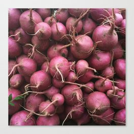 Farmer's Market Turnips Canvas Print