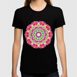 Mandala with gradient from peach color T-shirt