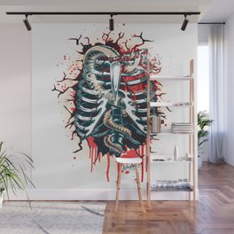 A Wounded Heart Wall Mural