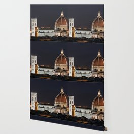 Night image of the Florence Cathedral Wallpaper