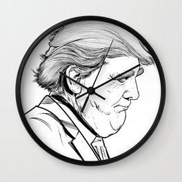 Trump Wall Clock